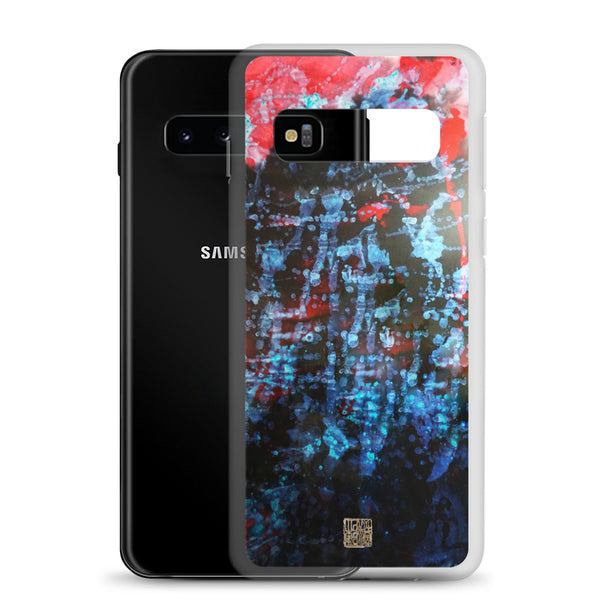 Orchestra of Life 3 of 3, Abstract Chinese Ink Art Print Designer Samsung Case, Samsung Galaxy S7, S7 Edge, S8, S8+, S9, S9+, S10, S10+, S10e Phone Case, Made in USA