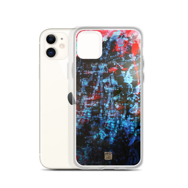 Orchestra of Life 3 of 3, Abstract Modern Chinese Ink Print iPhone Case, Made in US, iPhone 7/6/7+/ 6/6s/ X/XS/ XS Max/ XR/ 11/ 11 Pro/ 11 Pro Max Phone Case, Made in USA