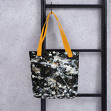 The Silver Galaxy of Life's Forces, Abstract Art Tote Bag- Made in USA/ EU - alicechanart