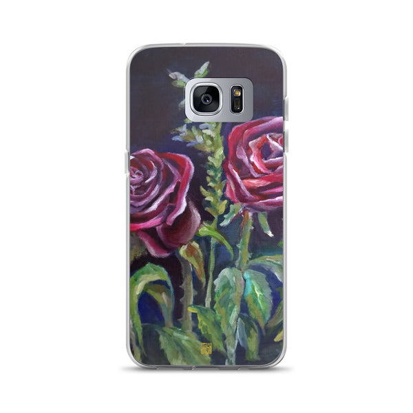 Fall Vampire Red Rose Floral, Samsung Galaxy S7, S7 Edge, S8, S8+, S9, S9+ Phone Case, Made in USA - alicechanart