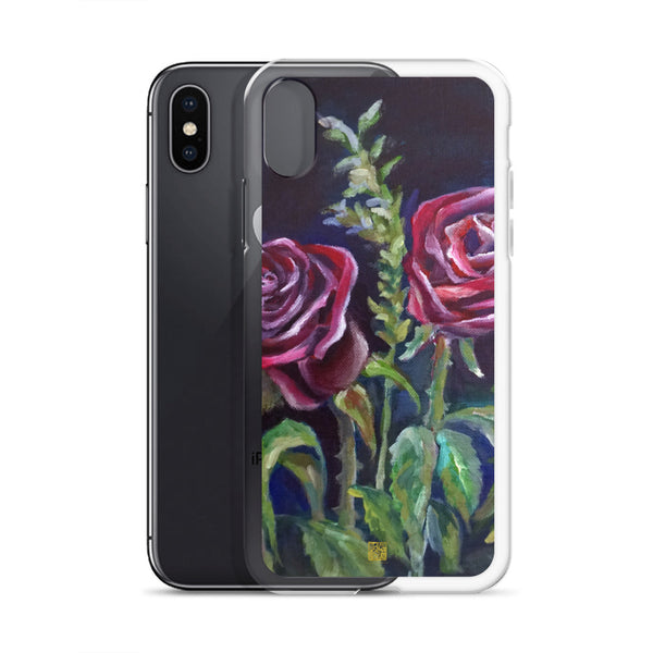 Summer Vampire Red Rose Floral  iPhone 7/6/7+/ 6 / 6s/ X/XS/ XS Max/XR Case, Made in USA - alicechanart
