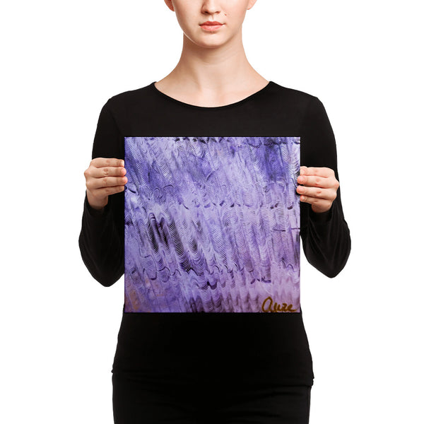 """Purple Mystery"", Canvas Art Print, Colorful Abstract Fine Art, Size: 12""x12""/ 16'x16"", Made in USA"