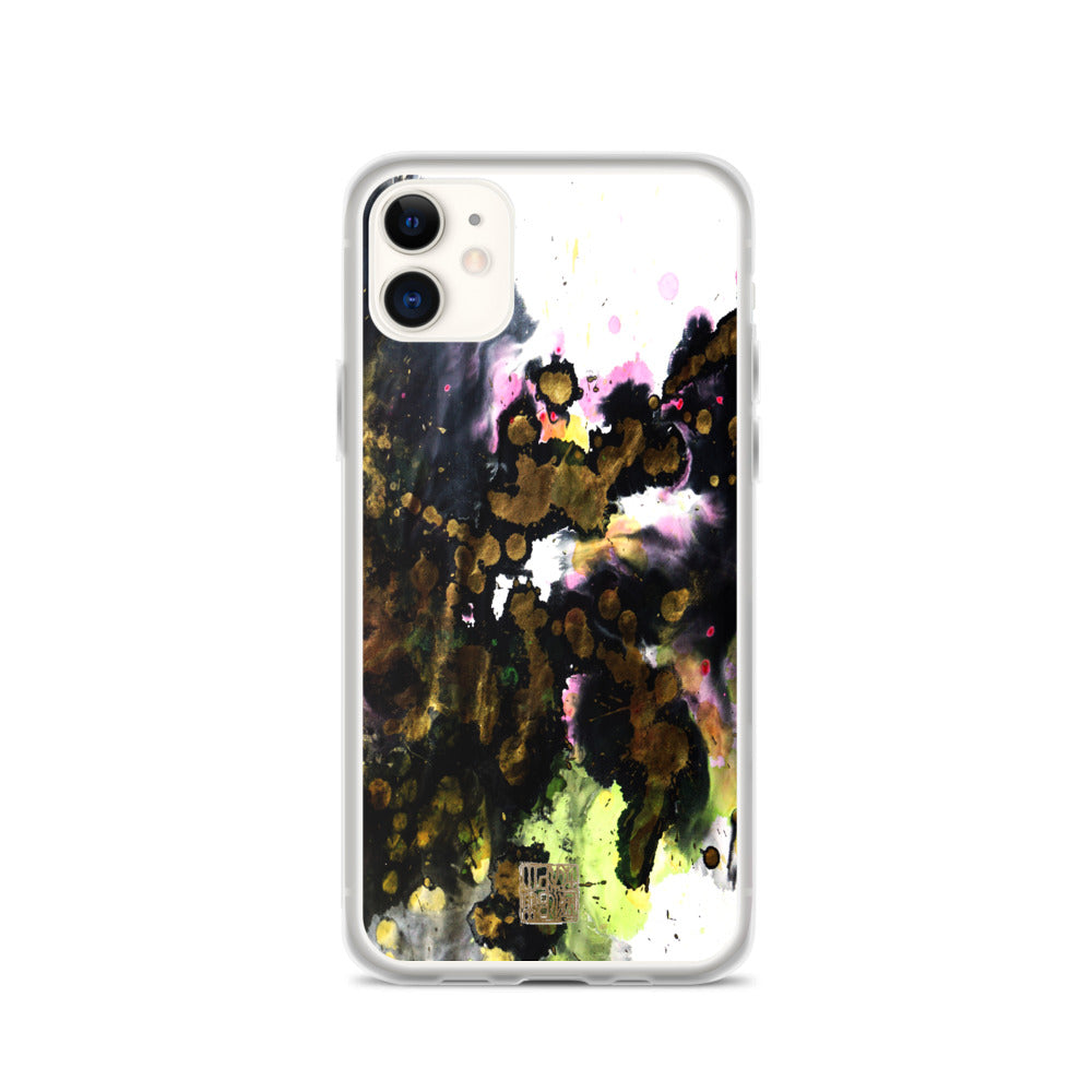 White Black Chinese Ink Abstract Art Print iPhone Case- Made in USA/ EU - alicechanart Black Ink iPhone Case, White Black Chinese Abstract Art Print, iPhone 7/6/7+/ 6/6s/ X/XS/ XS Max/ XR 11/ 11 Pro/ 11 Pro Max Case, Made in USA/ EU