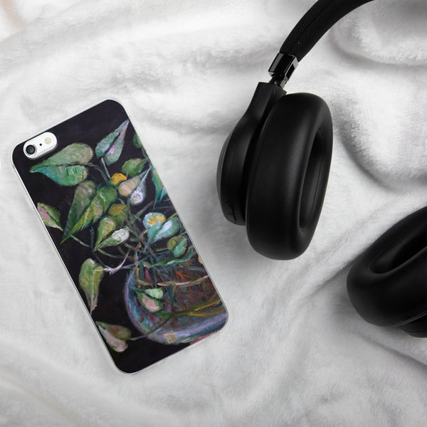 Golden Pothos Green Leaves Art Unique iPhone Case, Made in USA - alicechanart