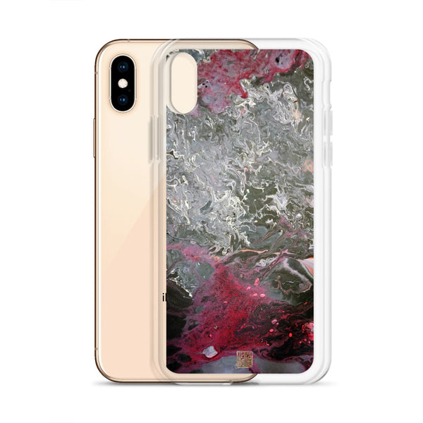 Grey Landscape iPhone Case, Part 1 Abstract Art 11/ 11 Pro Phone Case-Made in USA/EU