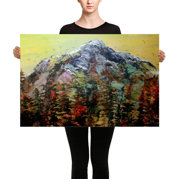 Mount Rainier Pacific Northwest PNW Cascades Canvas Art Print - Made in USA - alicechanart