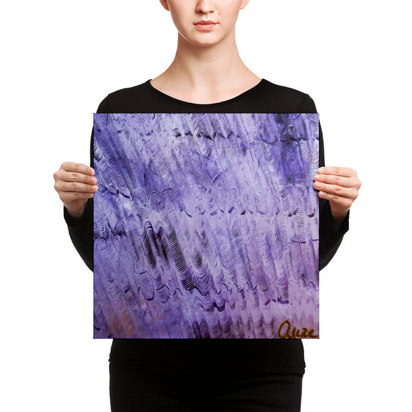 """Purple Mystery"", Canvas Art Print, Colorful Abstract Fine Art, Size: 12""x12""/ 16'x16"", Made in USA - alicechanart"