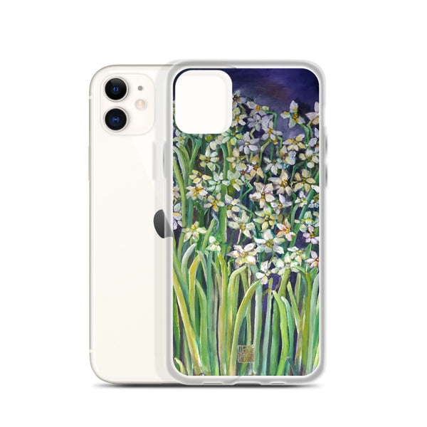 Narcissus Water Lilies, Floral Art Designer iPhone Case, iPhone 7/6/7+/ 6/6s/ X/XS/ XS Max/ XR/ 11/ 11 Pro/ 11 Pro Max Phone Case, Made in USA