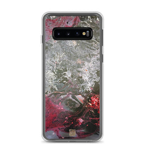 Grey Landscape Samsung Case, Part 1 Abstract Art Samsung Galaxy S7, S7 Edge, S8, S8+, S9, S9+, S10, S10+, S10e Cell Phone Case, Made in USA/EU