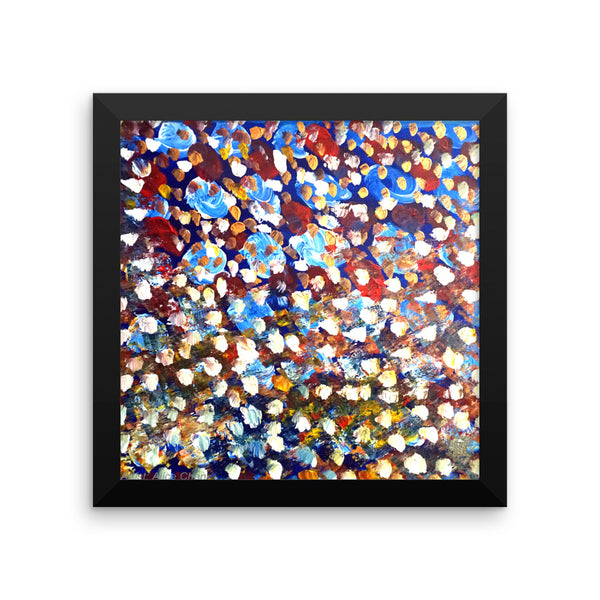 """Matrix Galaxy Dotted Painting"", Framed Photo Paper Poster, Made in USA"