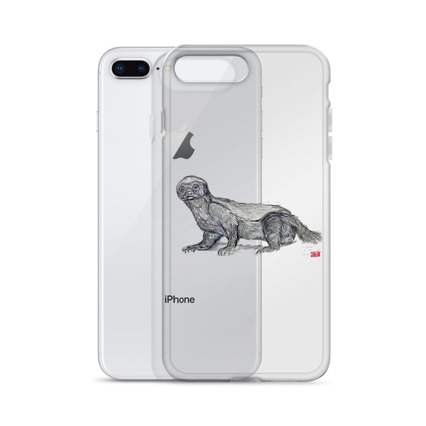 """Jambo - Honey Badger"", iPhone 7/6/7+/ 6/6s/ X/XS/ XS Max/XR Case, Made in USA - alicechanart"