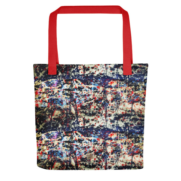 Golden Chinese Galaxy Print Abstract Print Ink Art Market Tote Bag- Made in USA/ EU - alicechanart