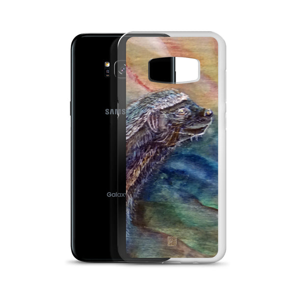 Honey Badger Chasing the Bee, Wildlife Animal Print, Samsung Case- Made in USA/ EU - alicechanart
