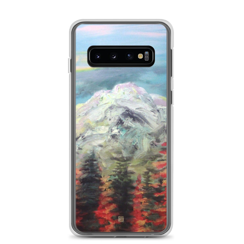 Mount Rainier in Blue Sky, Mountain Landscape Print, Samsung Case- Made in USA/ EU - alicechanart