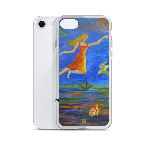 Angels From Heaven, Angel Art iPhone 7/6/7+/ 6 / 6s/ X/XS/ XS Max/XR Phone Case, Made in USA - alicechanart
