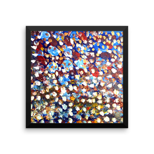 """Matrix Galaxy Dotted Painting"", Framed Photo Paper Poster, Made in USA - alicechanart"