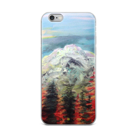 """Mount Rainier in Blue Sky"", Landscape Mountain, iPhone Case, Made in USA - alicechanart"