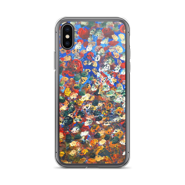 Raindrops 2/3 Designer Abstract Artistic Dotted iPhone Case, Made in USA - alicechanart