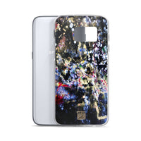 The Golden Galaxy of Life's Forces, Colorful Abstract Art Samsung Case- Made in USA/EU - alicechanart