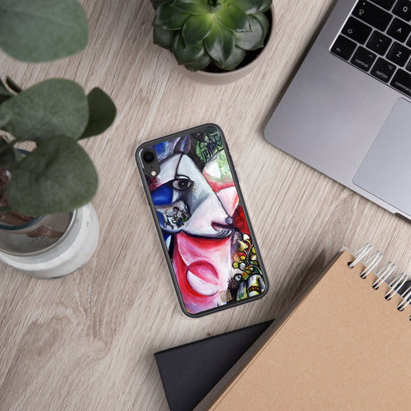 Chagall White Horse Inspired Art, iPhone Phone Case, Made in USA - alicechanart