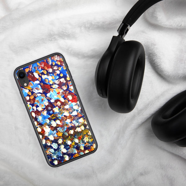 Raindrops 1/3 Colorful Abstract Pattern Art Print iPhone Case, Made in USA - alicechanart