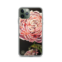 Pink Chinese Peonies Floral Print Premium iPhone Case- Made in USA/ EU - alicechanart