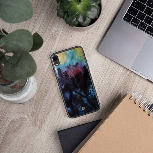 Mountain Landscape Chinese Art BPA-Free Solid Flexible iPhone Case - alicechanart