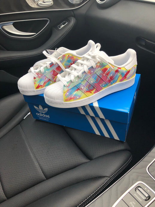 Pastel Multicolour Adidas Superstars