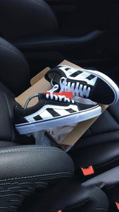 """OFF-WHITE"" Custom Vans"