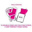 Body & Legs Cold Wax Strips Natural Inspirations for all Skin Types, Pack of 20