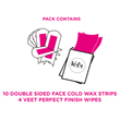 Face Cold Wax Strips for Sensitive Skin, Pack of 20