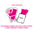 Body & Legs Cold Wax Strips for Sensitive Skin, Pack of 20