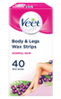 Body & Legs Cold Wax Strips for Normal Skin, Pack of 40
