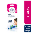 Face Cold Wax Strips for Sensitive Skin, Pack of 120