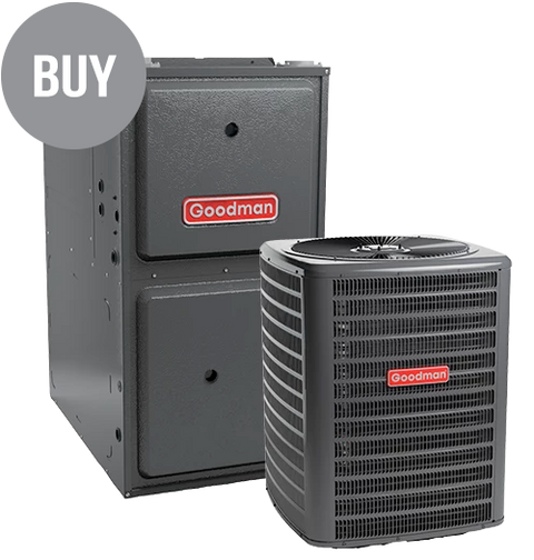GMEC96 Two-Stage Gas Furnace + GSX 13 Goodman Air Conditioner