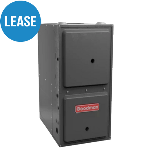 Lease a GMVM 97 Modulating Furnace Up to 98% efficiency ratings High Efficiency, Variable Speed ECM Up flow/Horizontal specialized for max. 2 story homes - Lease*