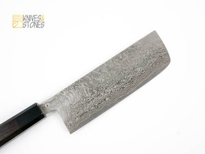 Shinko Kurokumo R2 Damascus Nakiri 165 mm by Shiro Kamo