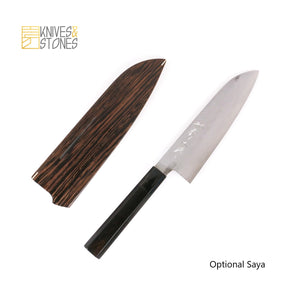 Tanaka Ginsan Nashiji Santoku 165mm Ebony handle Lite