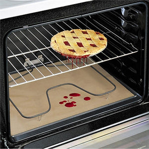 "24"" x 16"" Non-Stick Oven Liners High Temperature Bakeware Cooking Paper (White)"