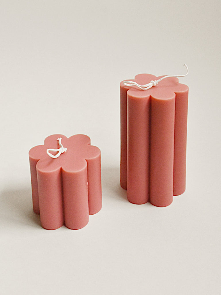 Daisy Soy Candle Rusty Pink