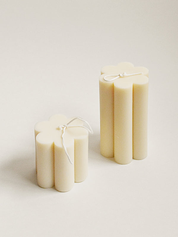 Daisy Soy Candle White