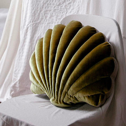 Shell Pillow - Chartreuse