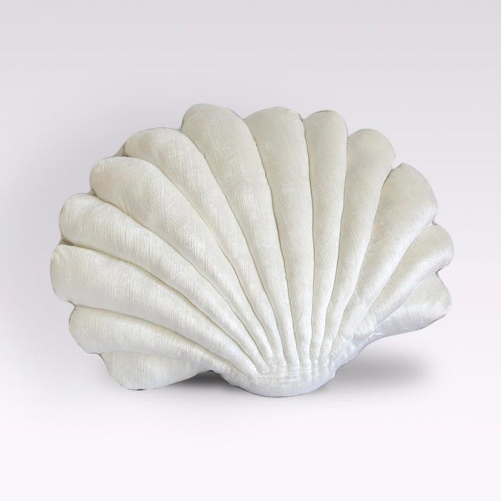 Shell Pillow - Pearl White
