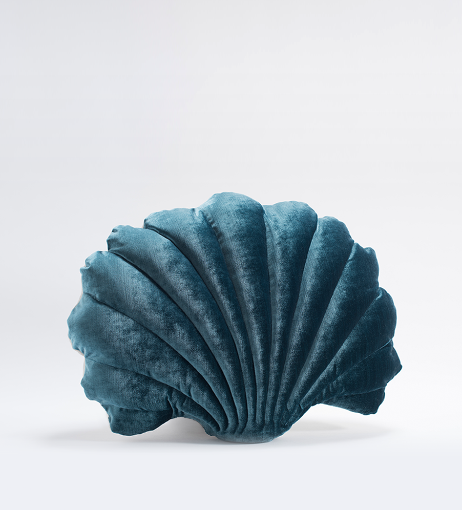 Shell Pillow - Teal