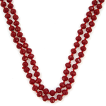 Double Wrap Beaded Necklace 60""