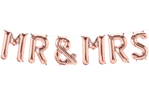 MR & MRS Rose Gold - 16 inch Air Fill Kit