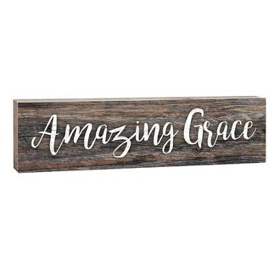 Amazing Grace - Small Wood Sign