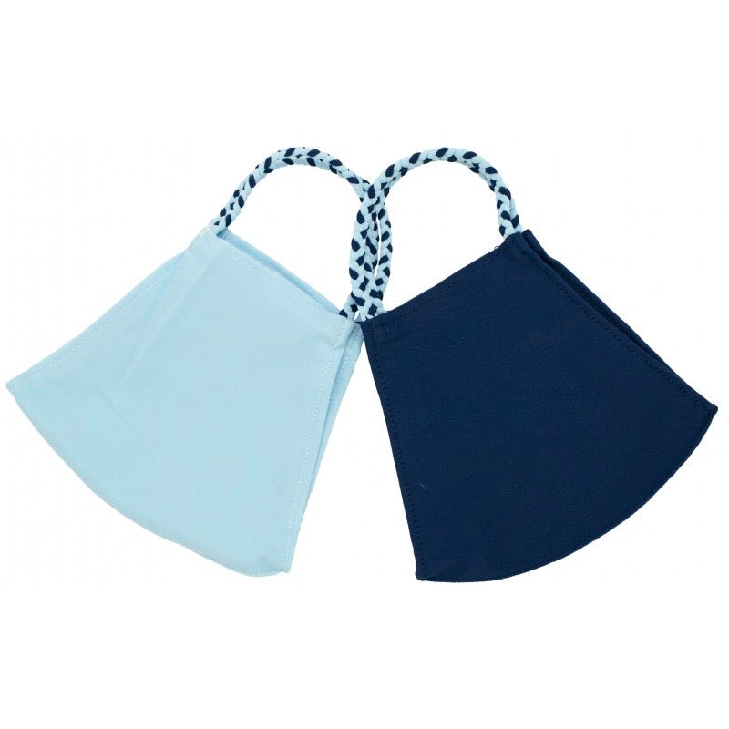 Light Blue & Navy - 2 Pack of Pomchies Masks