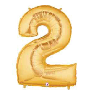 Gold Number 2 Balloon