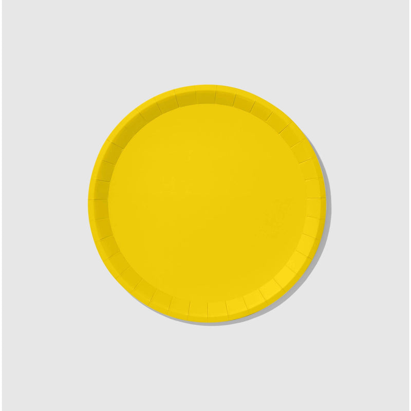 Sunshine Yellow Large Paper Plates